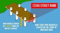 How do I address my boat dock?