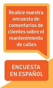 Customer Feedback Survey on Street Maintenance - Spanish