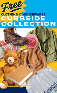 Clothing and Housewares Curbside Collection Promo