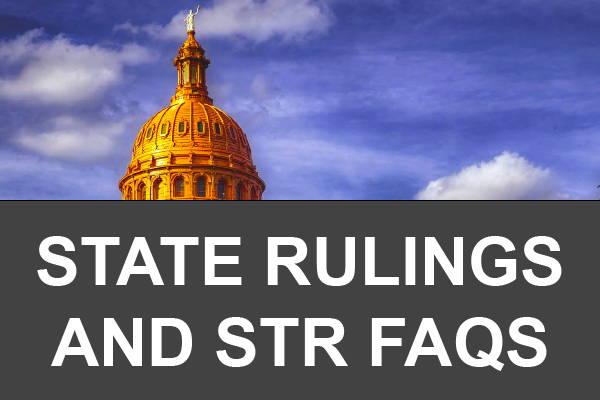 State Ruling & STR FAQs