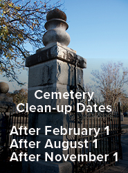 Cemetery Clean Up Dates