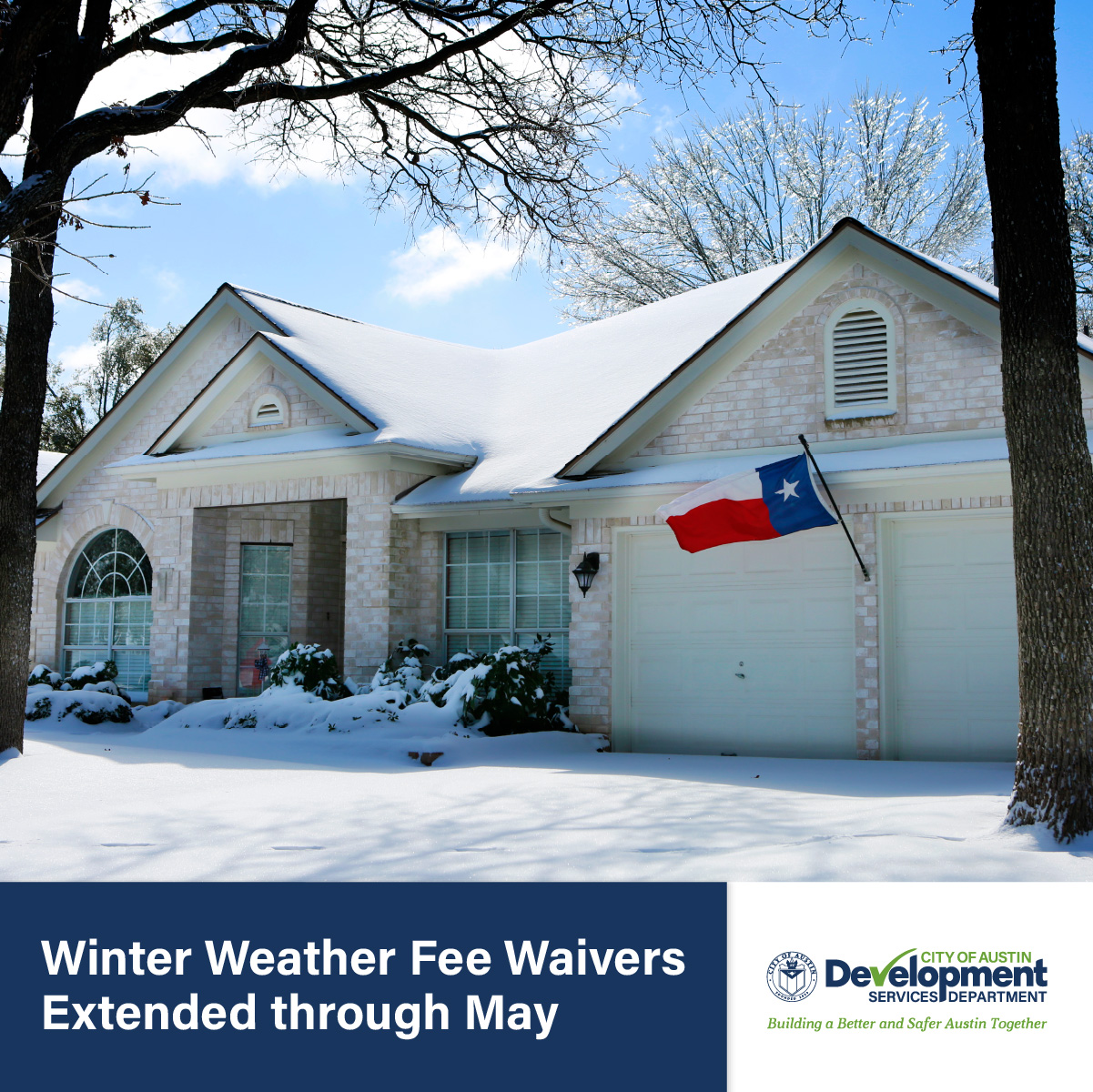 Winter Weather Fee Waivers Extended