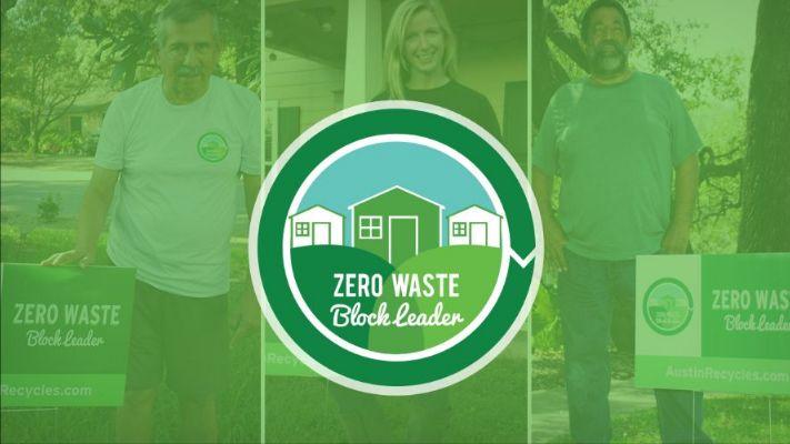 3 Panel Photo of Zero Waste Block Leaders