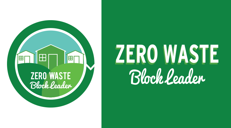 Zero Waste Clock Leader Logo with houses