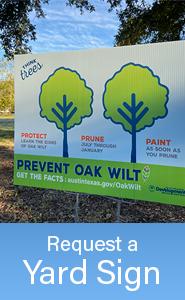 How To Get an Oak Wilt Yard Sign