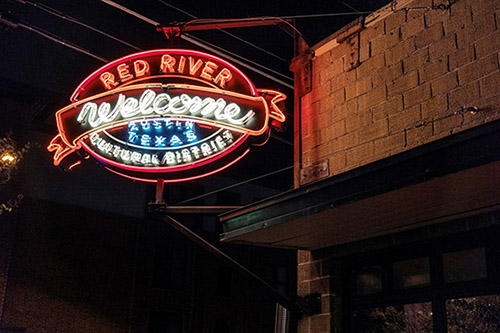 Red River Cultural District Neon Sign