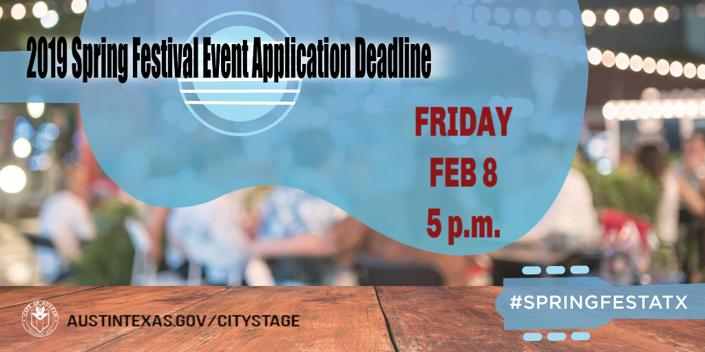 Application deadline for Spring Festival 2019 events is 5 p.m. Feb. 8, 2019