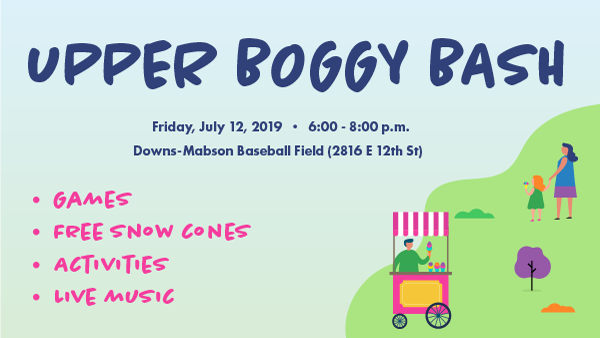 Upper Boggy Bash - Friday, July 12, 2019, 6-8 P.M. at Downs-Mabson Field