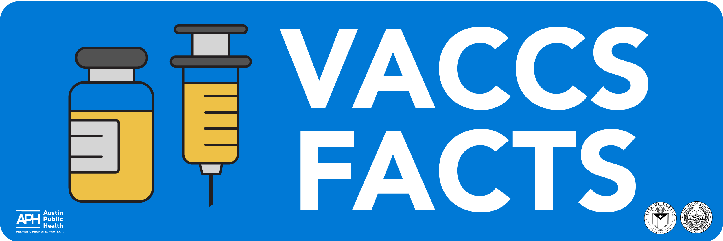 Vaccs Facts text with a vaccine syringe image