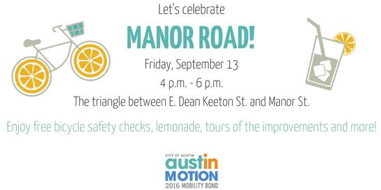 Graphic of Manor Celebration Event: Fri, Sept 13 at  4 p.m.