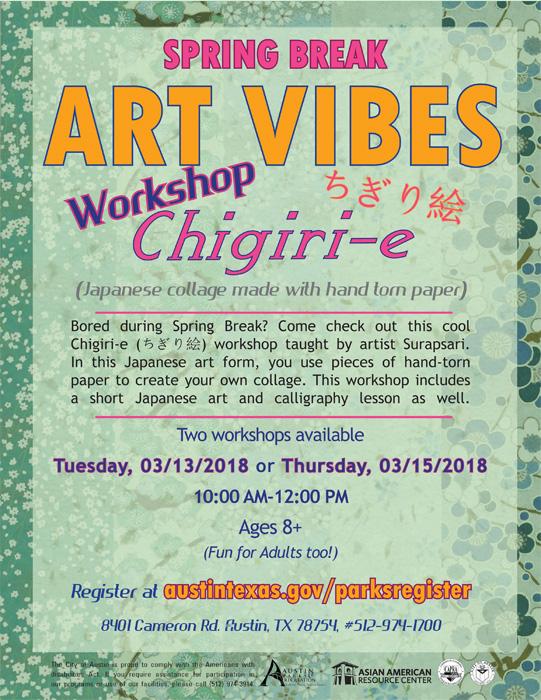 Art Vibes: Chigiri-e (ちぎり絵) Japanese Collage Workshop Flyer