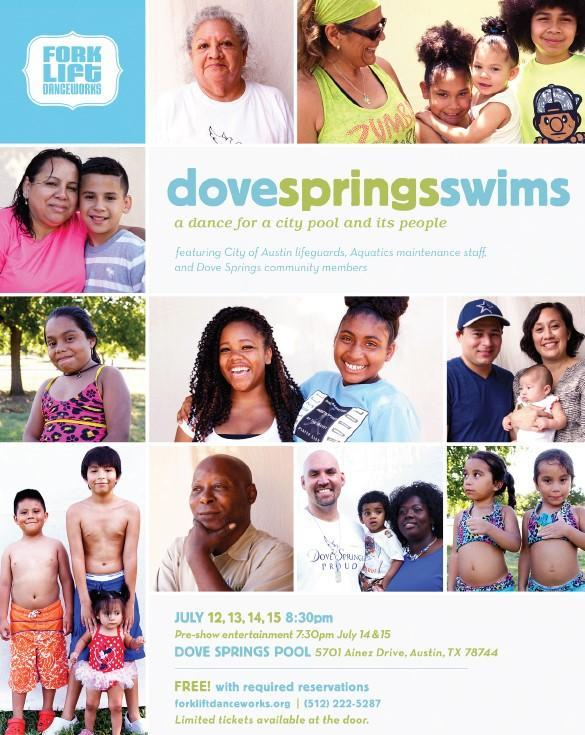 Dove Springs Swims on July 12 - 15, 2018