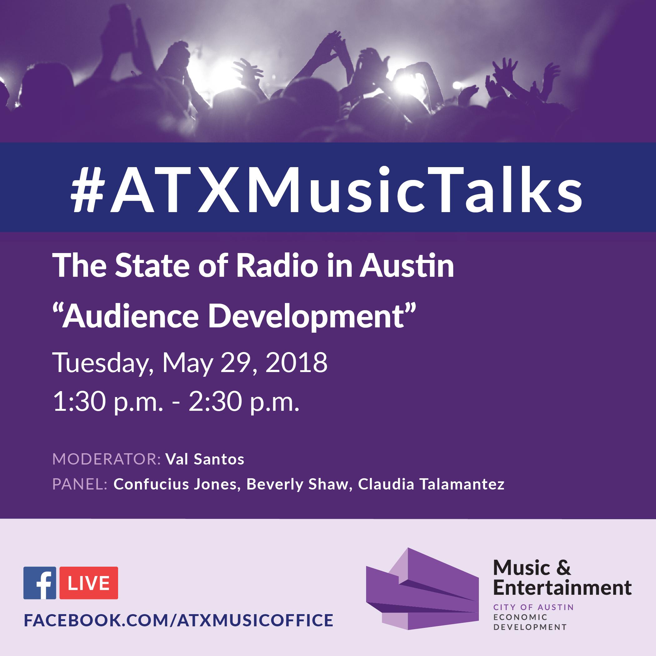 ATX music event invitation image