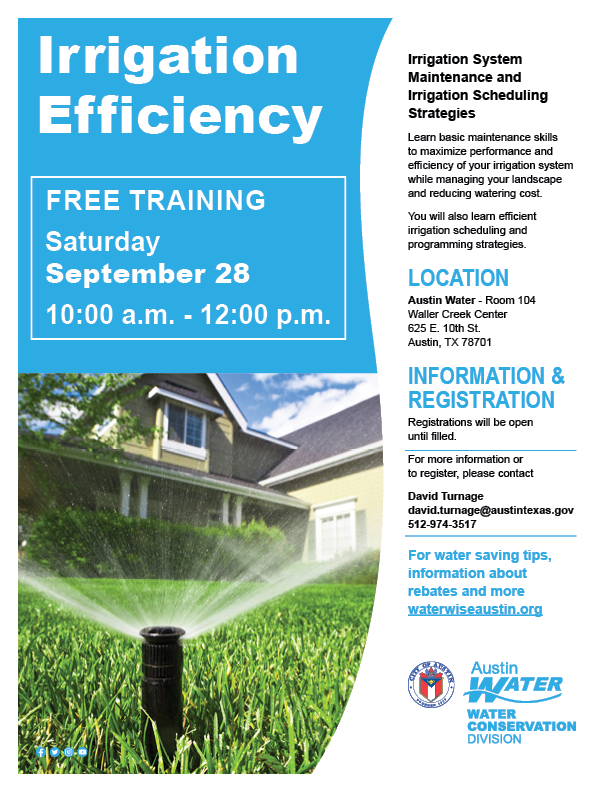 Free Irrigation Workshop