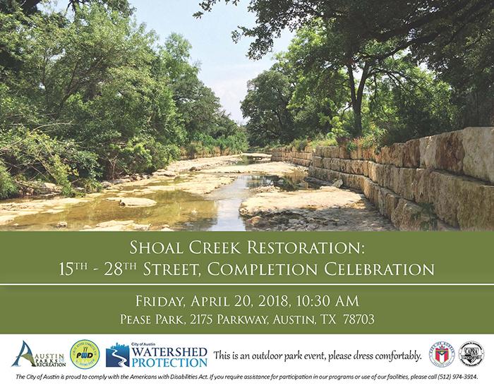 Shoal Creek Restoration Celebration