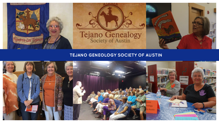 Tejano Geneology Society Monthly Meet-Up & Invited Speaker Marilyn Galvan, Saturday, August 4, 10am-12pm, Black Box, Free, All Ages