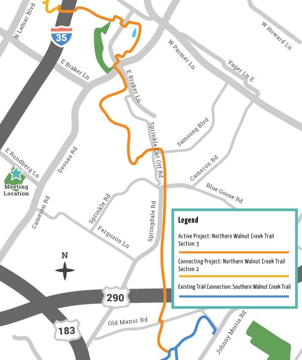 Northern Walnut Creek Trail Section 3 project limits