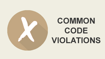 Common Code Violations