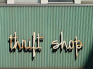 image of thrift shop sign