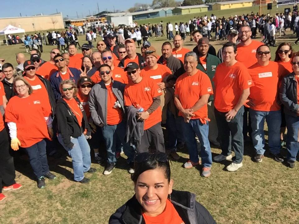 University of Texas Day of Service The Project 2016 Edition at Dobie Middle School