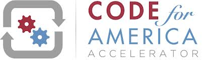 Code for America Accelerator logo. A link to the Code for America Accelerator website.