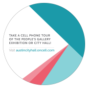 Take a cell phone tour of the people's gallery exhibition at City Hall