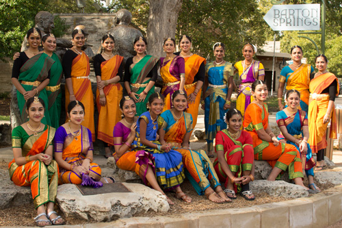 Austin Dance India dancers in costume