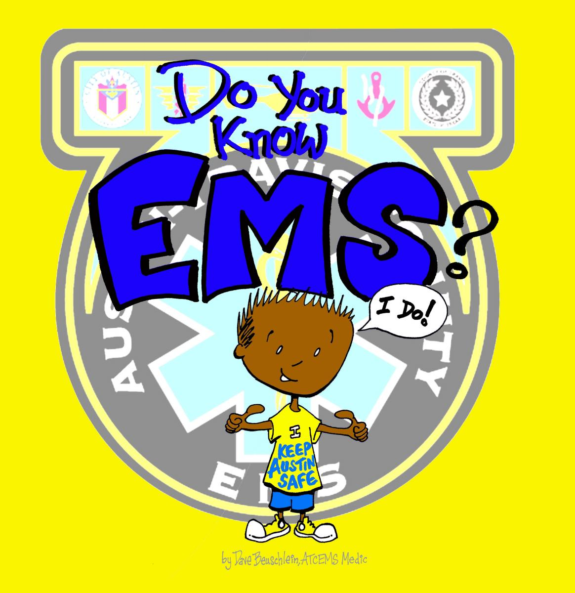 "Cover of the EMS Children's Book ""Do You Know EMS?"""