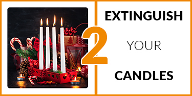 2. Extinguish your candles