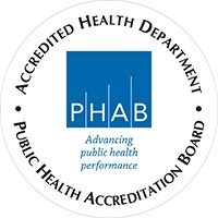 Logo showing Accreditation by the Public Health Accreditation Board