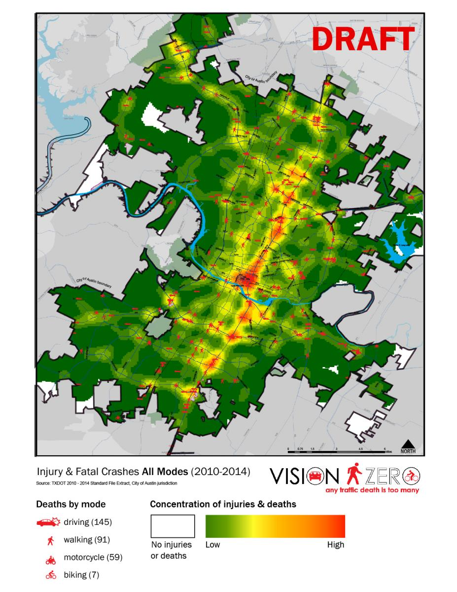 Vision Zero Any Traffic Death Is Too Many Austintexas Gov The