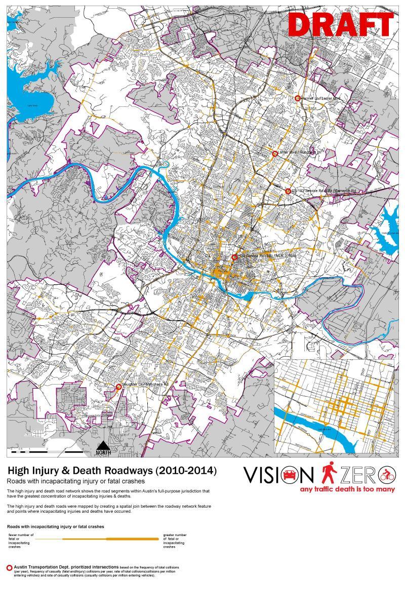 Vision Zero Evaluation Maps Planning And Zoning Austintexas Gov