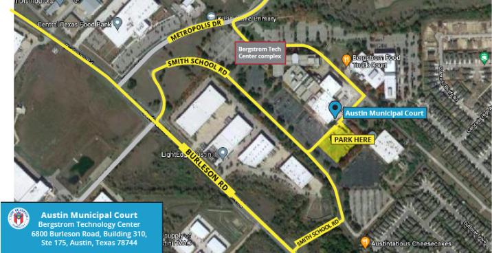 AMC Bergstrom Map