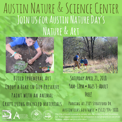 Austin Nature Day at Austin Nature & Science Center