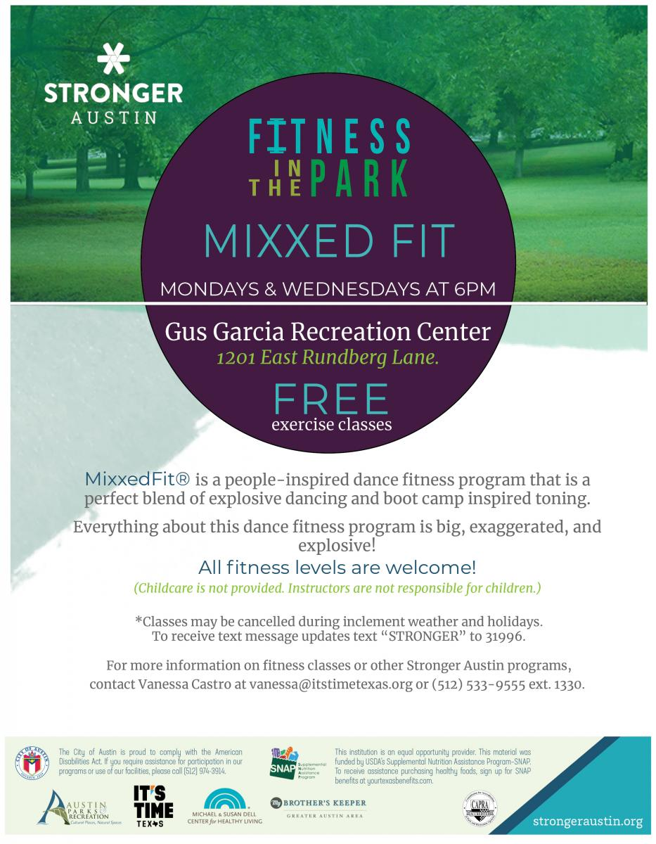 Free Mixxed Fit Dance Class on Monday and Wednesdays from 6:00-7:00pm, All Fitness Levels welcome
