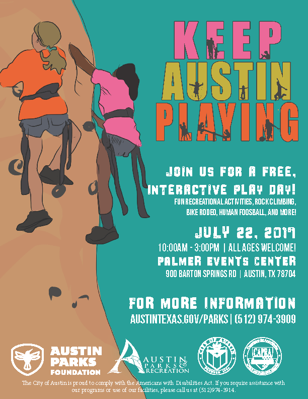 Keep Austin Playing 2017 Flyer