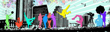Roving Leaders outreach program banner illustration