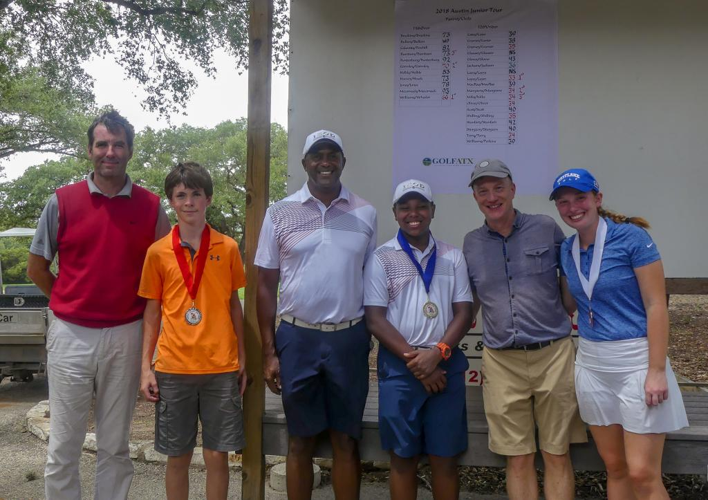 Parent/junior golf tournament winners