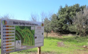 Map of Davis Spring Park Disc Golf Course