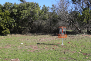 Basket on the Disc Golf Course