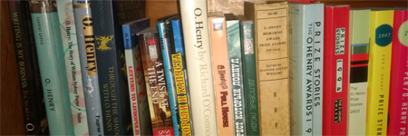 shelf with books by O. Henry or related to O. Henry