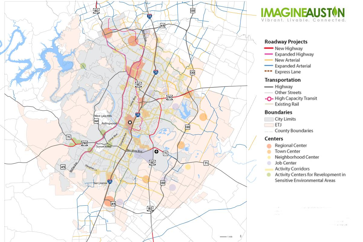 imagine austin resources  austintexasgov  the official website  -  gis downloads for imagine austin activity corridors and centers