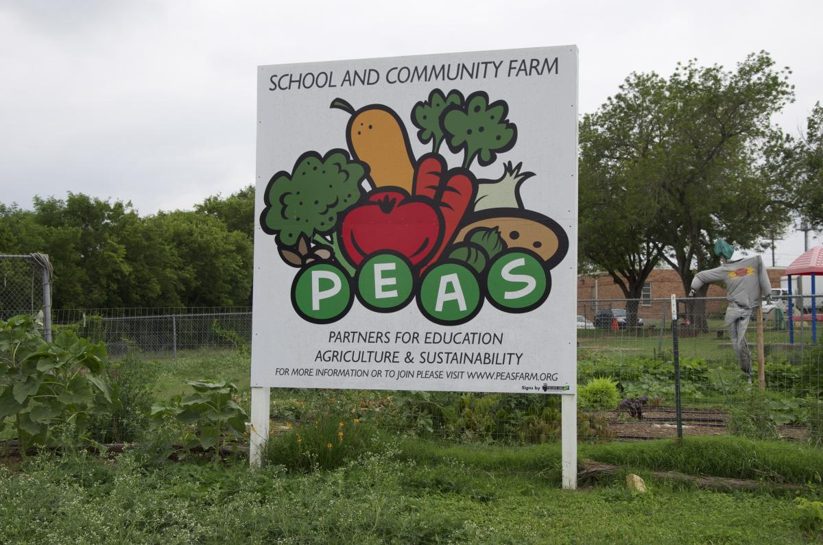 PEAs program sign at Cunningham Elementary