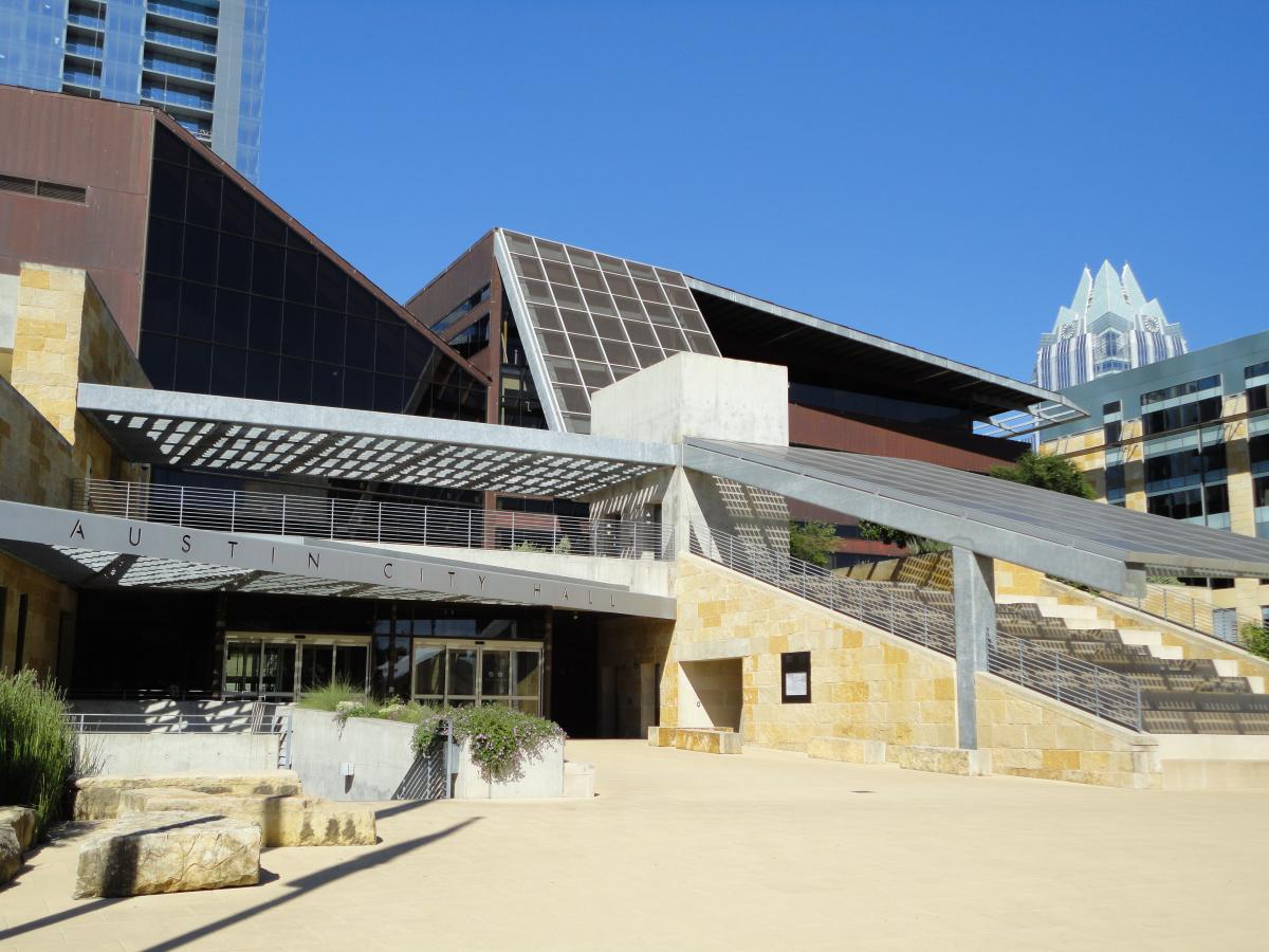 Pictured: City of Austin City Hall, LEED Gold Certified