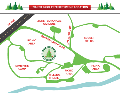 Map of Zilker Park