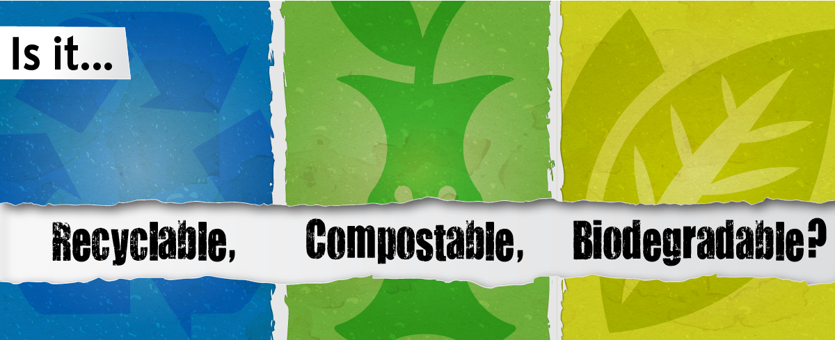 Header image: Is it recyclable, compostable or biodegradeable?