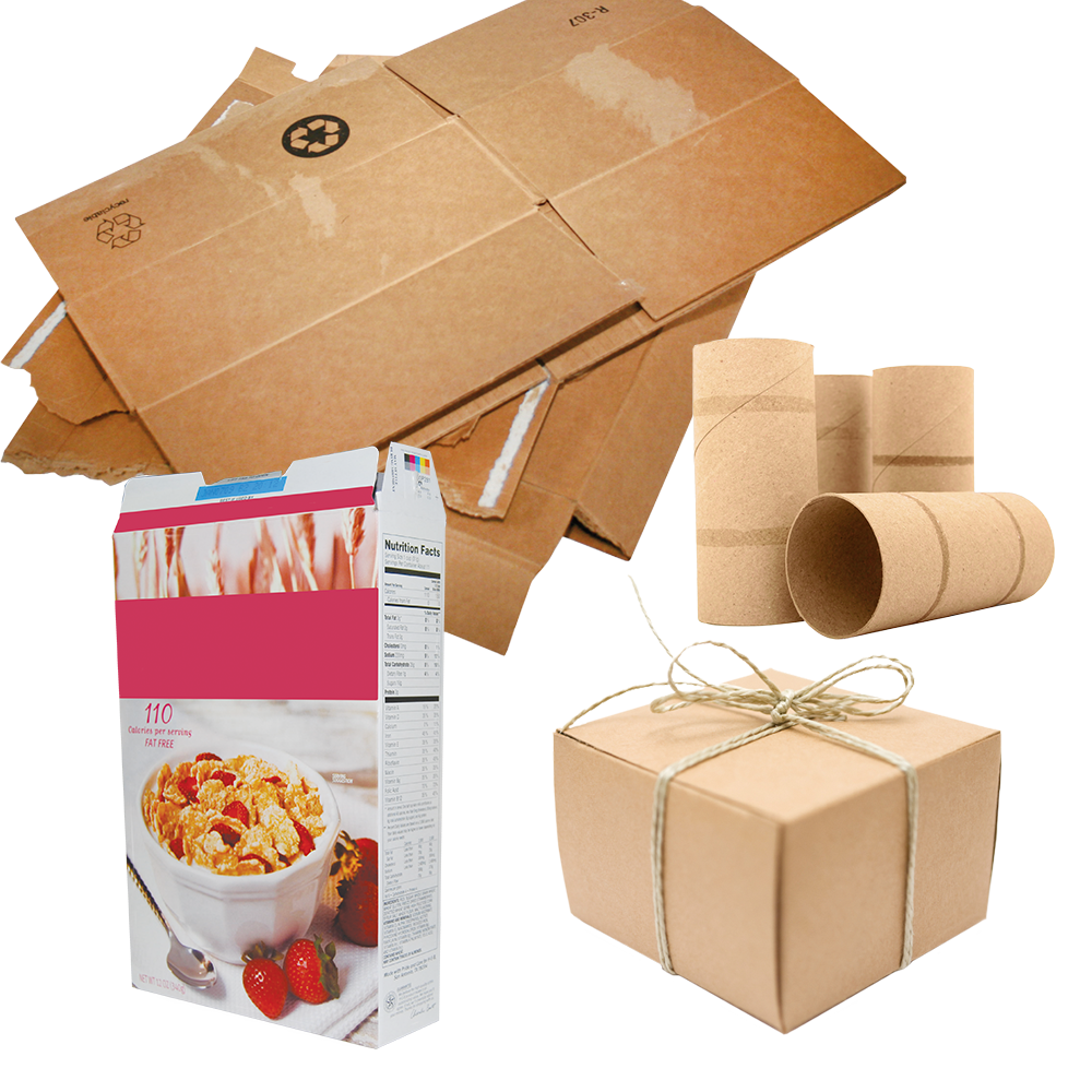 Image of different cardboard types