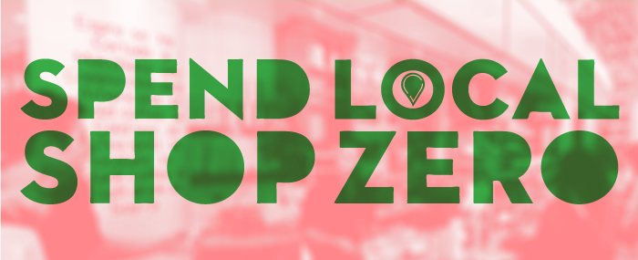 Spend Local. Shop Zero Banner