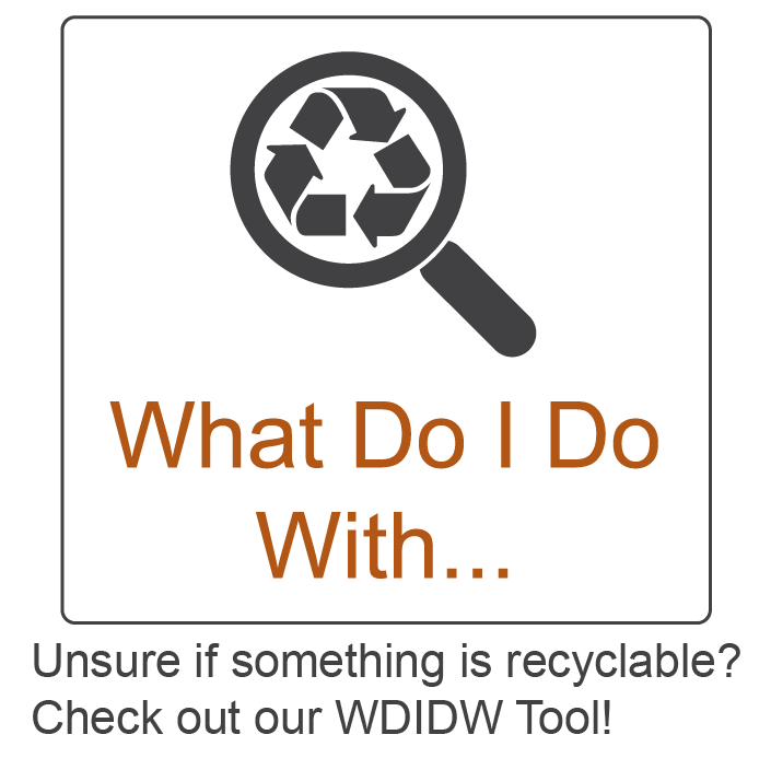 Unsure if something is recyclable? Check out our What Do I Do With tool!