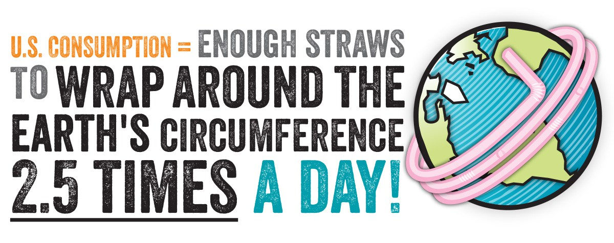 U.S. Consumption = Enough straws to wrap around the Earth's circumference 2.5 times a day!